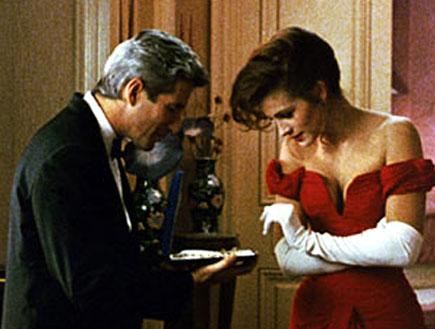 """ג'וליה רוברטס וריצ'רד גיר מתוך """"אשה יפה"""" (צילום: יחסי ציבור)"""